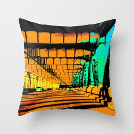 Bay Bridge Evening Pixelart Throw Pillow