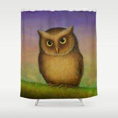 Mountain Scops Owl Shower Curtain