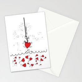 Corazones Pescados Stationery Cards