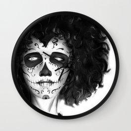 Famele Skull Wall Clock