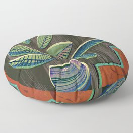 I Think More is More #Plant #Glitch-Art Floor Pillow