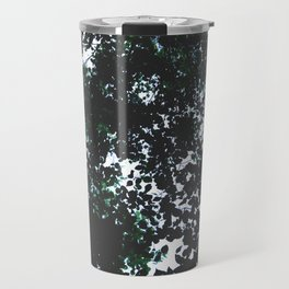 Tops of the leaves of trees silhouettes. Travel Mug
