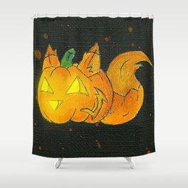 Wolf-o-Lantern Shower Curtain