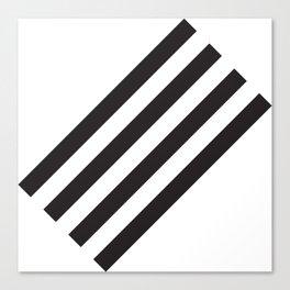 Dark Stripes Canvas Print