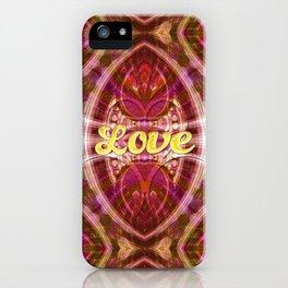 Tribal Love Geometry (Pinks) iPhone Case