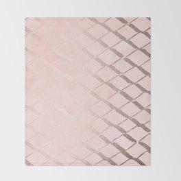 Rosegold Ribbon Throw Blanket