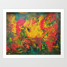 Underneath it all Art Print