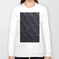 lv Long Sleeve T-shirts featuring Black LV by I Love Decor