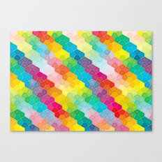 Jewel polygon pattern Canvas Print