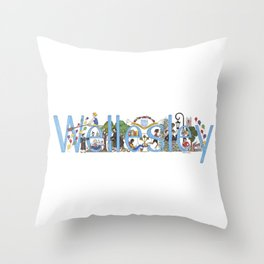 Wellesley College by Stephanie Hessler '84 Throw Pillow