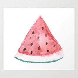 Big Watermelon // Watercolor Art Print