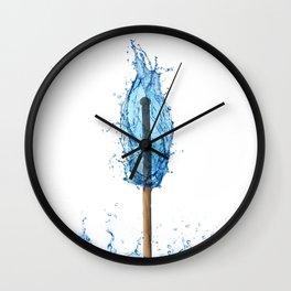 water flame Wall Clock