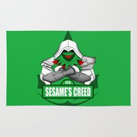kermit Area & Throw Rugs featuring Sesame's Creed by BC Arts