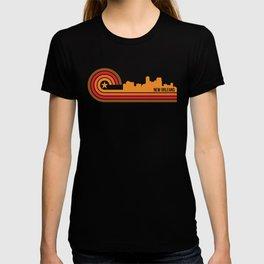 Retro New Orleans Louisiana Skyline T-shirt