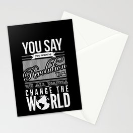 Revolution.  Stationery Cards