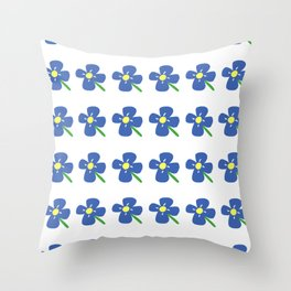 Blue Daisies Throw Pillow