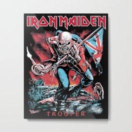 Iron Maiden - Trooper Metal Print