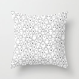 Halloween Pattern 4 Ghosts staring at you Throw Pillow