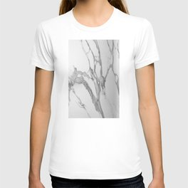 White Marble With Silver-Grey Veins T-shirt