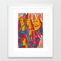 rabbits Framed Art Prints featuring - rabbits - by Magdalla Del Fresto