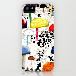 Mein Ein, mein Alles - Mushrooms Abstract Botanical Art - cute animal print - Leopard Muster iPhone Case