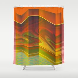 Interior Pool in a Geodesic Habitacle Shower Curtain