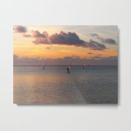 Windsurfing on the Sound Metal Print