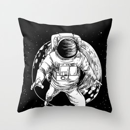 Floating Astronaut With Moon design Universe Cience Lovers Throw Pillow