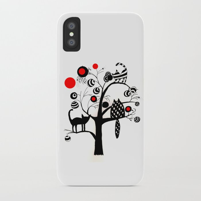 cats and fruits iPhone Case