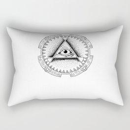 The Triangle-shaped Watcher Rectangular Pillow