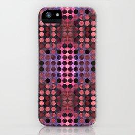 MELANGE of Purple-Coral-Rust no1 iPhone Case