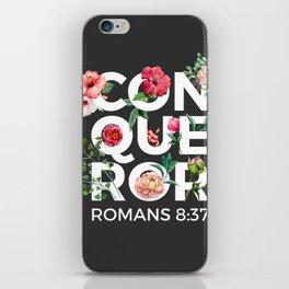 Conqueror- Romans 8:37 iPhone Skin