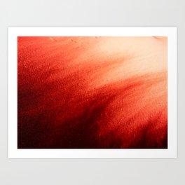Indefinite Red Art Print
