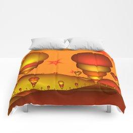 Fantasy Landscape, Fractal Art Comforters