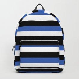 estonia flag stripes Backpack