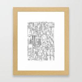Dublin, city of chimneys Framed Art Print