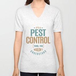 Pest Control Unisex V-Neck