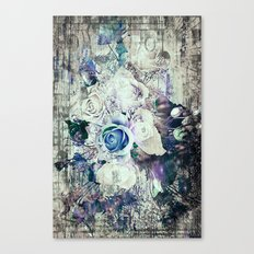 Retro abstract geometric floral Canvas Print