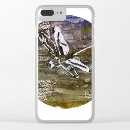 Dragonfly traveling around the world Clear iPhone Case