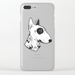 Bull Terrier dog Tattooed Clear iPhone Case