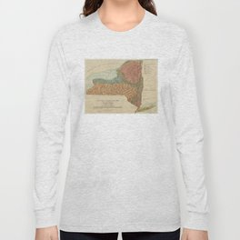 Vintage Geological Map of New York (1898) Long Sleeve T-shirt