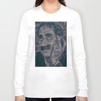 marx Long Sleeve T-shirts featuring Groucho Marx - Duck Soup Screenplay Print by Robotic Ewe