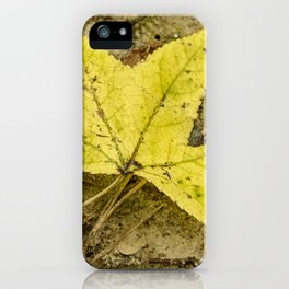 The Yellow Leaf iPhone Case