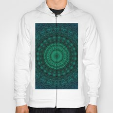 Deailed mandala in green tones. Hoody