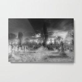 Ghostly Kensal Green Cemetery London Metal Print