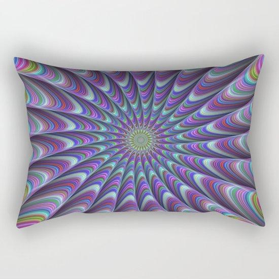 Twisted fractal sun Rectangular Pillow