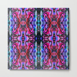Abalone Symmetry in Pink Metal Print