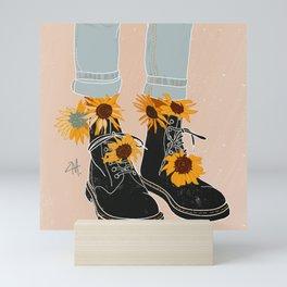 Flower Boots Mini Art Print