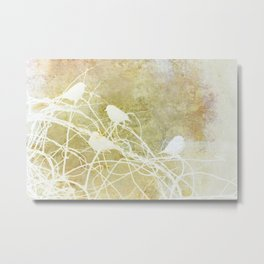 Winter Tangle:  Sparrows in the Bittersweet Metal Print