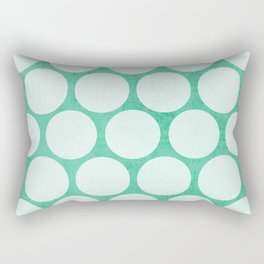 mint and white polka dots Rectangular Pillow